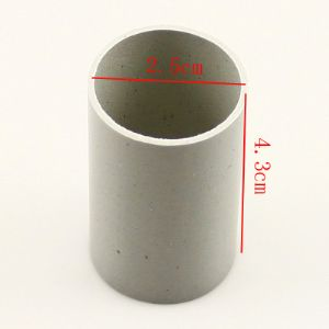Plastic cylinders for Mesh flowers, Plastic, grey, 2.5cm x 2.5cm x 4.3cm, 1  piece, (SST0007)